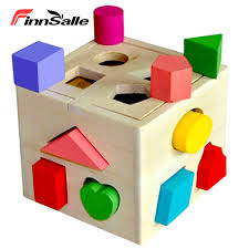 Geometric Shape Sorter with Stacking Blocks and Shape Sorting ...