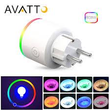 Avatto <b>16a Eu Rgb Wifi</b> Smart Plug With Power Monitor, Wifi ...