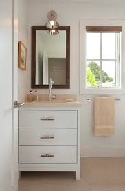 small bathroom vanity and sink casual bathroom with simple mirror under downlight and compact bathroo