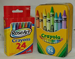 <b>Crayola</b> Storage Tin Storage Box And Box Of 24 <b>Rose</b> Art Crayons ...