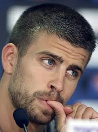 FC Barcelona's cheerful central defender Gerard Pique's haircut with short sides. Wednesday, August 22nd, 2012. Tags: brush haircuts, footballer hairstyles, ... - Gerard-Piques-Haircut