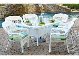 portside 7 piece dining set outdoor patio furniture classic design wicker tortuga outdoor traditional polyester durable affordable outdoor furniture