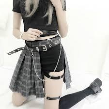 <b>Harajuku</b> Punk <b>Style Plaid</b> Irregular Skirts Women Asymmetrical ...