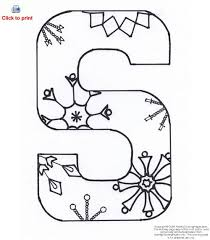 Small Picture Letter S Activity Coloring Page Printable S is for Snowman