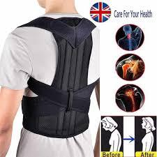 <b>Back</b> Posture Corrector Shoulder Lumbar Brace Spine <b>Back</b> Support ...