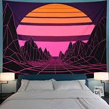 Leofanger Sun Tapestry Mountain Tapestry Abstract ... - Amazon.com