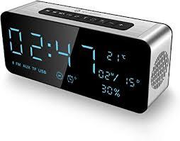 Alarm Clock Radio Bluetooth Speakers for iPhone ... - Amazon.com