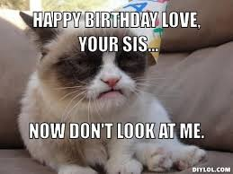 Grumpy Cat Meme | grumpy-cat-meme-generator-happy-birthday-love ... via Relatably.com