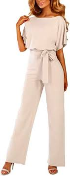 iChunhua Womens Summer <b>Wide Leg</b> Jumpsuit with Belt: Amazon ...