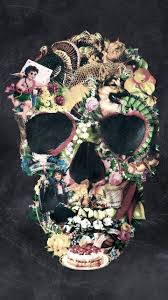 <b>Vintage Floral Skull</b> Wallpapers