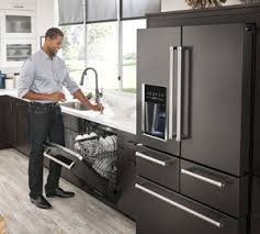 black and stainless kitchen fabulously functional black stainless steel