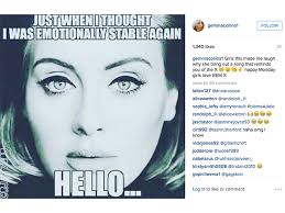 Say hello to the internet's funniest reaction's to Adele's Hello ... via Relatably.com