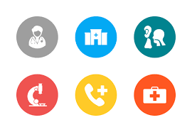 <b>Medical</b> White (with <b>Multicolor</b> Circle Background) icons by ...