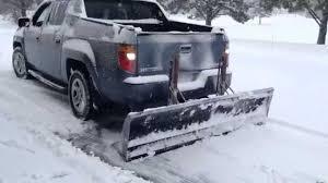 receiver hitch reverse pushing snow plow