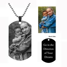 Jovivi <b>Personalized</b> Engraved <b>Picture Necklace</b> Text Dog Tag ...