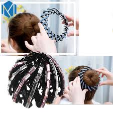 <b>M MISM 2019</b> New Rhinestone Hair Accessories Women Donut Bun ...