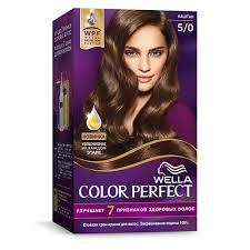 <b>Крем</b>-<b>краска для волос</b> `<b>WELLA</b>` <b>COLOR</b> PERFECT тон 5/0 ...