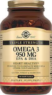 СОЛГАР Жиры и жирные кислоты <b>Тройная Омега-3 950 мг ЭПК</b> и ...