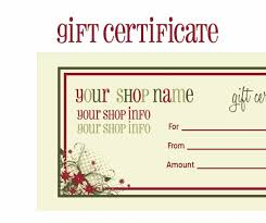 holiday gift certificate templates certificate holiday gift certificate templates