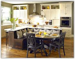 size kitchen island bench seating