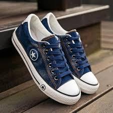 Denim Canvas <b>Womens Flat Sneakers</b> - LeafySouls