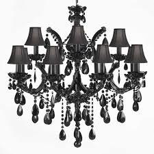 black chandelier lighting. jet black crystal chandelier with shades traditionalchandeliers lighting