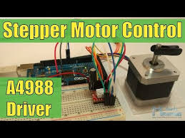 How To Control a <b>Stepper Motor</b> with A4988 <b>Driver</b> and Arduino ...