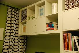 bold geometric curtain feat green painted office wall idea plus stylish ikea file cabinet with open bedroom large size ikea home office