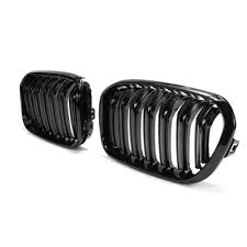 1 Pair Matte Black Front Kidney Grill Grille For F20 F21 1 ... - Qoo10