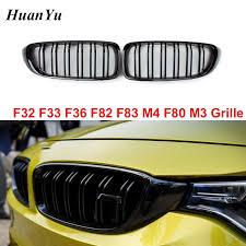 <b>1pair</b> 2 Slat Kidney Grille <b>for</b> BMW <b>4</b> Series F32 F33 <b>F36</b> F80 M3 ...