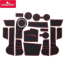 smabee Gate slot mat For <b>For Kia Rio</b> 4 X Line RIO <b>2017</b> 2018 ...
