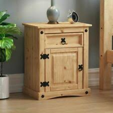 Solid Wood Brown <b>Bedside Tables</b> & Cabinets | eBay