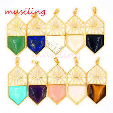 Wholesale <b>Natural</b> Gem Stone <b>Jewelry</b> Pendants <b>Pendulum</b> Gold ...