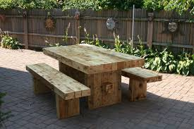 chunky dining table and chairs get reclaimed wood table and bench sets for rustic outdoor dining room idea picture