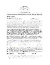 social media specialist resume samplee social media resume template social media marketing resume sample