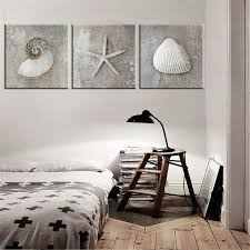 Online Shop <b>No Frame</b> Grey Vintage Canvas Art Sea Shell Photo A4 ...