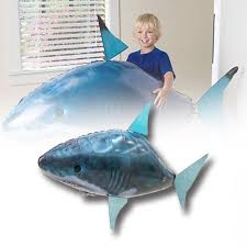 <b>Remote</b> Control Shark Toys <b>Infrared</b> Inflatable Large <b>Flying Fish</b> Air ...