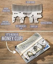 Headgehog features a <b>bottle</b> opener, Phillips <b>screwdriver</b>, phone ...