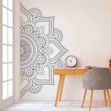 Half Mandala Wall <b>Decal Sticker</b> for Bedroom Modern Design ...
