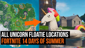 All 8 <b>unicorn</b> floatie locations - Fortnite 14 days of <b>summer</b> challenge ...