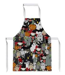 Clothing <b>Halloween Pumpkin Witch Pattern</b> Sublimation Apron