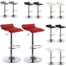 2 x <b>Bar Stools Faux</b> Leather Kitchen Stools Model Celin | Woltu.eu