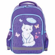 <b>Пифагор School Рюкзак</b> для начальной школы <b>White</b> Cat ...