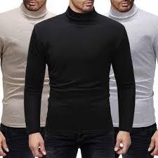 Autumn <b>Winter Warm Turtleneck Sweater</b> Men Fashion Solid Knitted ...