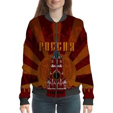"Бомбер ""Россия"" #1701838 от gopotol - <b>Printio</b>"