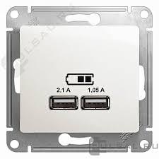 GSL000633, <b>Розетка USB</b> type-A, 2.1А Glossa, <b>USB</b> (зарядка 5В ...