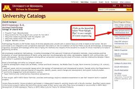 degree requirements college of liberal arts screenshot location of view sample plan for major