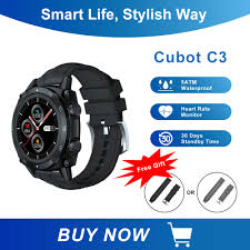 <b>Cubot C3</b> SmartWatch Sport Heart Rate Sleep Monitor 5ATM ...