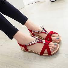 Women Sandals <b>Summer Beach</b> Sandals Flip Flops <b>Bohemian</b> ...