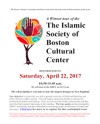 calendars school the the s parents association and parent network for diversity invite all parents to join us for a tour of the islamic center of boston